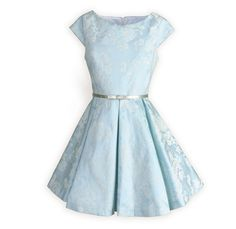 Tween Girls' Ice Blue Sateen Swing Dress