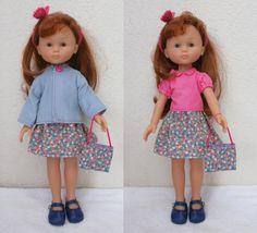 Habits pour Les Chéries - ensemble veste, jupe, chemisier et accessoires : Jeux, jouets par mcl-poupees