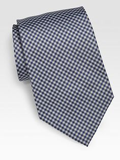 Paul Smith - Gingham Print Silk Tie - Saks.com