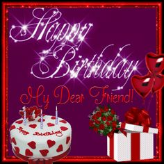 Birthday Wishes Gif, Happy Birthday My Friend, Happy Birthday Pictures, Happy Birthday Sister, Happy Birthday Quotes, Happy Birthday Greetings, Birthday Board, Birthday Pins, Birthday Roses