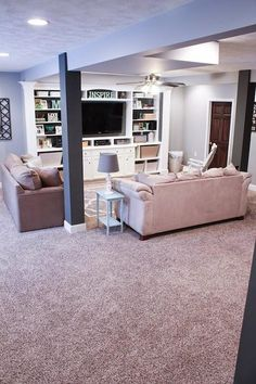 48 Small Finished Basement Layout Couch – Home Renovation Small Basement Remodel, Basement Renovations, Modern Basement, Industrial Basement, Rustic Basement, Attic Renovation, Attic Remodel, Basement Layout, Walkout Basement