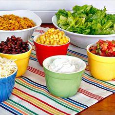 Prepping Parties : Burrito Bowl Bar
