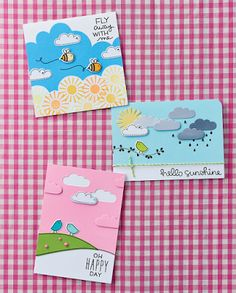 My Hello Sunshine makes for Crafts Beautiful April 2015 issue Crafts Beautiful, Hello Sunshine, Cool Cards, Happy Day, Twine, Cosmic, Simple Designs, Craft Projects, Stationery