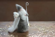Needle Felted King Winter, Waldorf, Grey, Elsa Beskow, Toy, Doll, Puppet, Story, Wool Figure, Natural, Jack Frost
