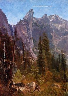 Albert Bierstadt Lost Arrow, Yosemite Valley, painting