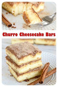 Churro Cheesecake Bars #churrocheesecake # Churro Cheesecake Bars #Churro #Cheesecake #Bars #ChurroCheesecakeBars