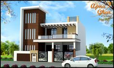 5 bedroom, beautiful Independent Floor Design. Area:170 sq mt area (10m X 17m)  Click here (http://www.apnaghar.co.in/house-design-435.aspx) to view free floor plans (naksha) and other specifications for this design. You may be asked to signup and login. Website: www.apnaghar.co.in, Toll-Free No.- 1800-102-9440, Email: support@apnaghar.co.in