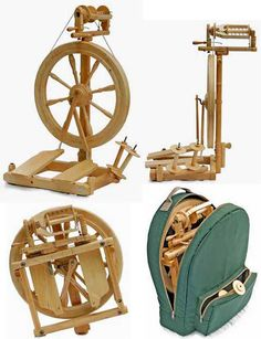 Sonata Spinning Wheel & Bag from Kromski, It Folds!  This is my spinning wheel!  Reference for features/estimated value if I need to sell it.