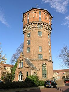 The water tower in Gorinchem, The Netherlands was built in 1886.  - photo by Willemjans, via Wikipedia