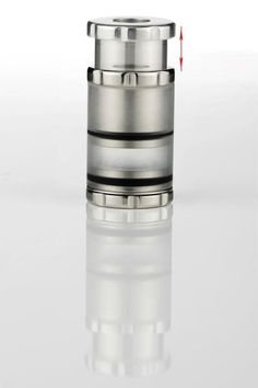 Made from stainless steel 304L (food grade) and plexiglass. It can hold cartos with length 35mm and 45mm.If used with the Killer 705 or the ΣΟΦΙΑ, the bottom cap is screwable and can be unscrewed together with the adapter.