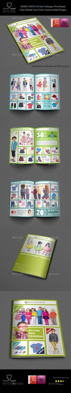 Kids Fashion Products Catalog Brochure Template