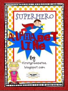 First Grade A to Z: Superhero Envy,Clipart, Units, and Freebies!