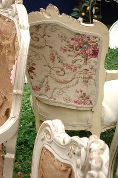 18th century ~ if I was going to recover my grandmother's chair, it would be in a fabric like this...