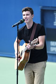 August 23: Shawn Mendes performs during the 2014 Arthur Ashe Kids' Day at USTA Billie Jean King National Tennis Center in New York City.