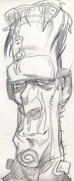 Frankenstein ________________________- Love the gestural feeling to this sketch.