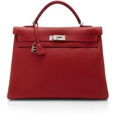 Heritage Auctions Special Collection Hermes 40Cm Rouge Casaque... ($28,500) ❤ liked on Polyvore featuring bags, handbags, genuine leather purse, burgundy purse, red purse, hermes purse and leather bags