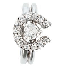 Two Become One Horseshoes And Hearts Equestrian Wedding Set