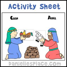 Cain and Abel Activity Sheet for Children's Sunday School from www.daniellesplace.com