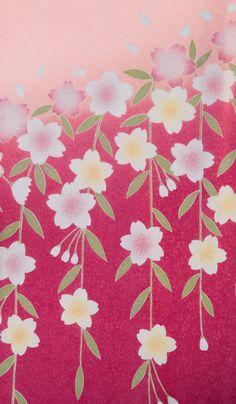 着物 No:697 商品名:ピンク 違い桜