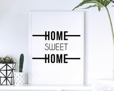 Typographic home decor prints. by osotweedesigns on Etsy Etsy Seller, Sweet Home, Etsy Shop, Creative, Prints, Home Decor, Decoration Home, House Beautiful, Room Decor