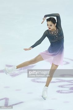 Evgenia Medvedeva of Russia competes during Senior Ladies Free Skating on day three of the ISU Junior and Senior Grand Prix of Figure Skating Final at Palais Omnisports on December 10, 2016 in...
