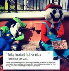 Nintendo laid them off now there homeless
