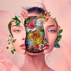 Los 'floridos' collages digitales de Marcelo Monreal
