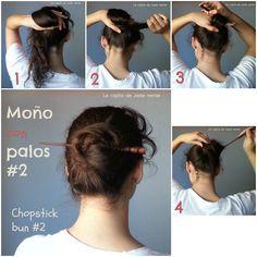 Elegant Half Updo With Asian Hair Sticks Bun Hairstyles