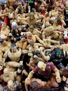 This bin of old wrestling action figures : AccidentalRenaissance