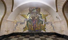 Мозаика на Новослободской - одной из самых красивых станций московского метро