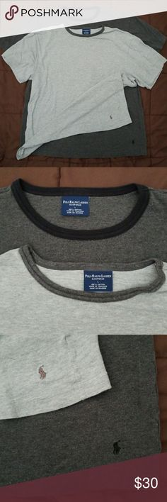 👕💙BUNDLE OF TWO SLEEP TEES 💙👕 FROM MY HUBBYS CLOSET! POLO RALPH LAUREN SLEEPWEAR LINE! BUNDLE OF TWO  ONE HEATHER GRAY  ONE DARK GRAY  SIZE LARGE  100 % COTTON  DARK GRAY ONE NEVER WORN! Polo by Ralph Lauren Shirts Tees - Short Sleeve