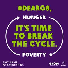 Take Action with Oxfam America > #DearG8, it's time to break the cycle of #hunger and #poverty!