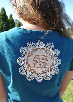 doily t-shirt embellishing