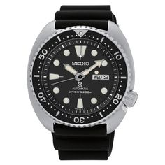 Seiko Men's SRP777 Stainless Steel Automatic Diver Chronograph Watch with 200M Water Resistance and a Dial