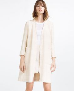 Image 2 of PIPED COAT from Zara