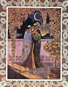 "Rubáiyát of Omar Khayyám (1913)  Illustrations by René Bull.    ""Ah Love! could thou and I with Fate conspire"""