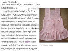 pembe incili bebek elbisesi tarifi 1