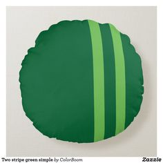 Two stripe green simple round pillow Soft Pillows, Throw Pillows, Green Cushions, Green Home Decor, Clover Green, Round Pillow, Green Stripes, Emerald Green, Soft Fabrics
