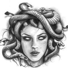 Medusa Tattoo Design, Design Tattoo, Tattoo Design Drawings, Tattoo Sleeve Designs, Tattoo Sketches, Sleeve Tattoos, Hand Tattoos, Dope Tattoos, Body Art Tattoos