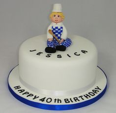 Chef Themed Birthday Cake 07917815712 www.fancycakesbylinda.co.uk www.facebook.com/fancycakeslinda
