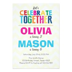 Twins birthday invitation joint birthday party invite friends twins birthday invitation joint birthday party invite friends birthday invitation double birthday party two kids digital file print pinterest twin filmwisefo