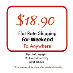 Flat rate shipping to Anywhere No Limit Weight No by yooounique