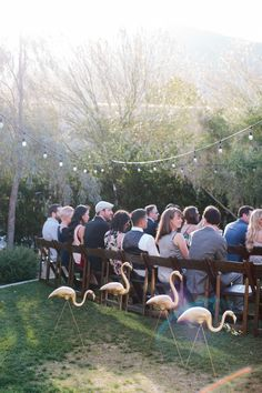 in game area with croquet Flamingo wedding decor Lawn Games Wedding, Wedding Seating, Wedding Reception Decorations, Decor Wedding, Wedding Ideas, Hotel Wedding, Dream Wedding, Spring Wedding Inspiration, Ace Hotel