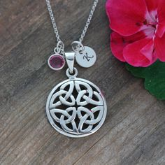 Sterling Silver Celtic Knot Necklace Personalized by LifeOfSilver, $39.80