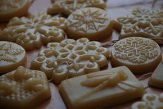 beeswax ornaments made with candy molds...doesn't need to be holiday themed. I love the smell of beeswax