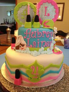 SPA PARTY CAKE IDEAS Spa party cakes 13th birthday cakes and Spa