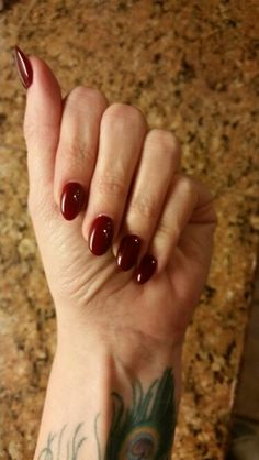 Berry oval nails
