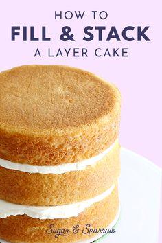 Stack Cake Recipe, Cake Filling Recipes, Best Cake Recipes, Icing Recipe, Best Vanilla Cake Recipe For Stacking, Dense Cake Recipe For Stacking, Favorite Recipes, Cake Recipe For Decorating, Cake Decorating For Beginners