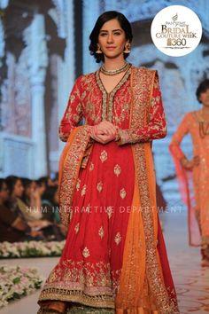 Bridal Couture Week 2014 - nida azwer red