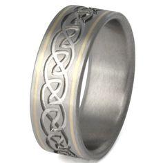 Titanium Irish Celtic Wedding Rings ck21
